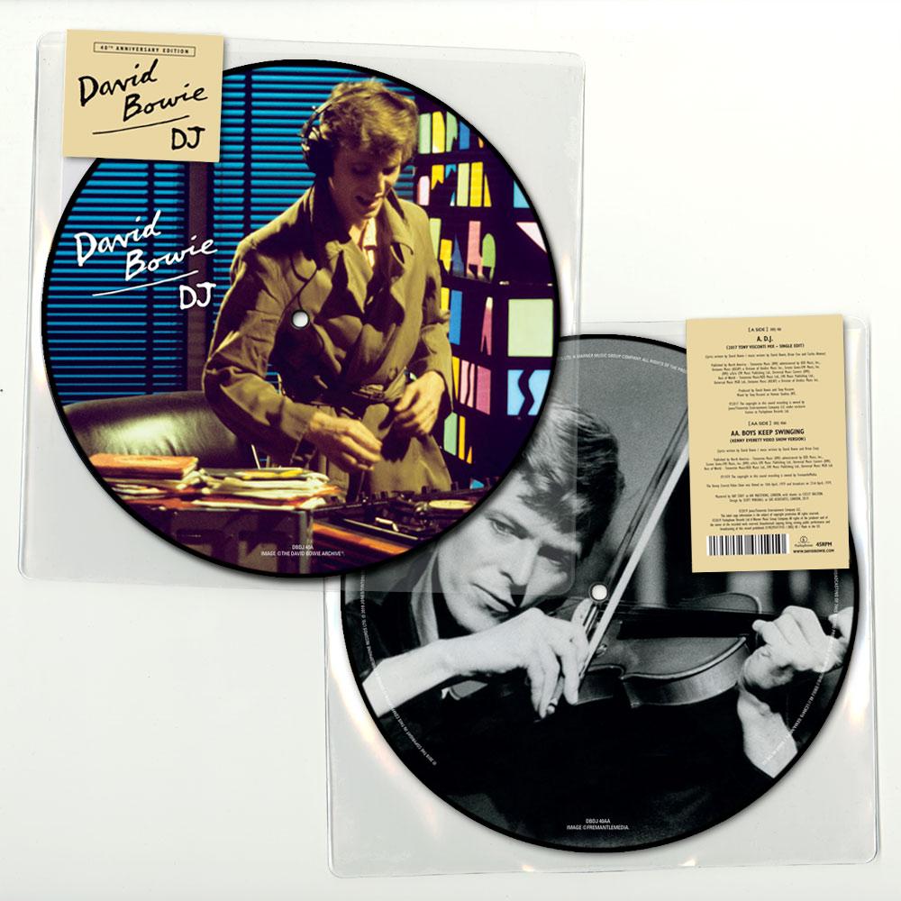 """David Bowie – D J  (40th Anniversary Picture Disc 7"""" Vinyl)"""